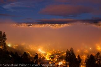 Amanecer con neblina